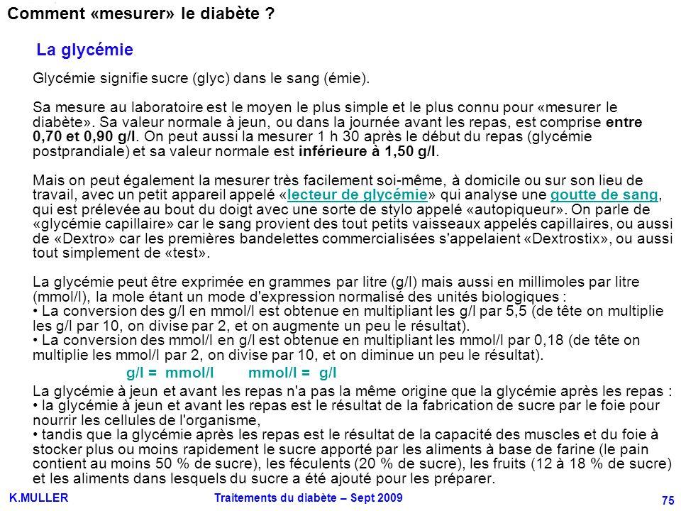 Comment «mesurer» le diabète