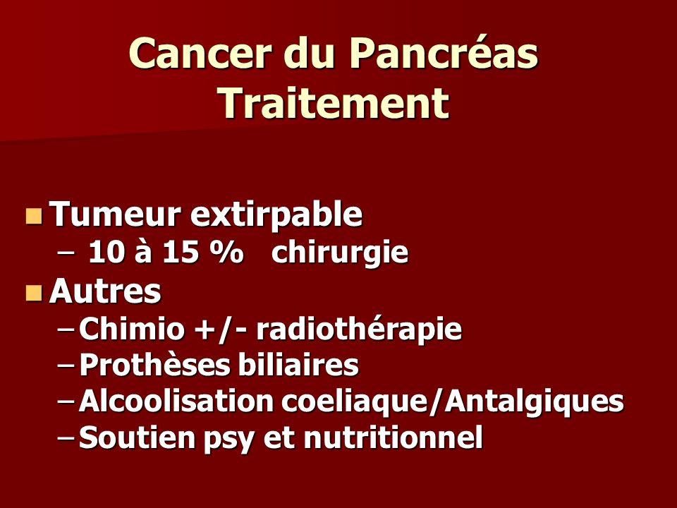 Cancer du Pancréas Traitement
