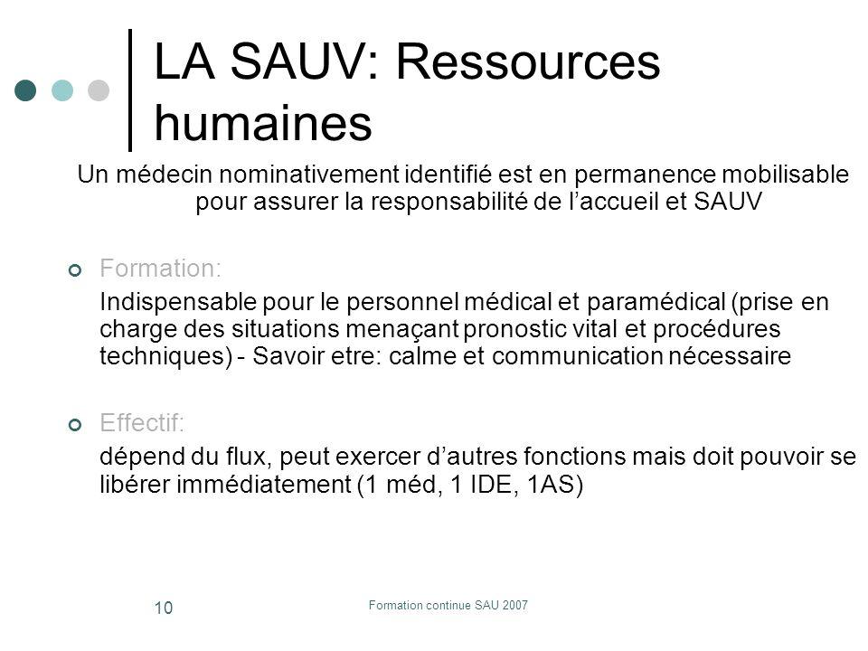 LA SAUV: Ressources humaines