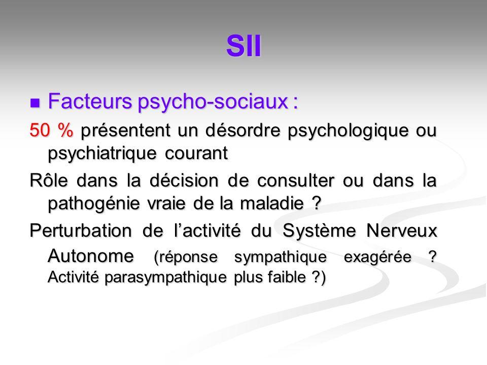 SII Facteurs psycho-sociaux :