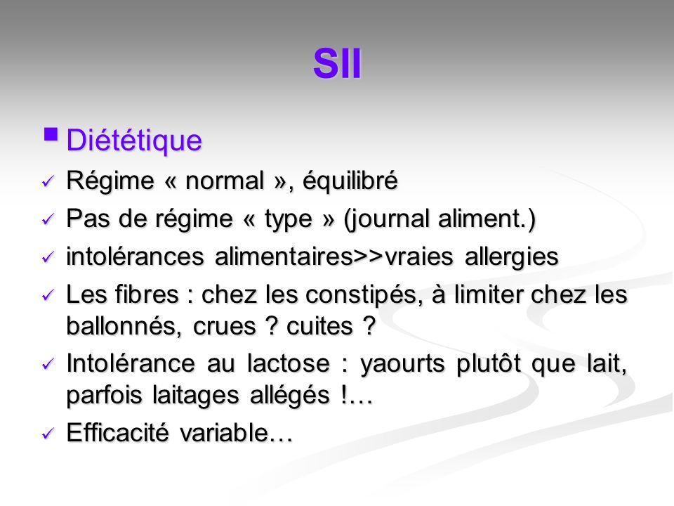 SII Diététique Régime « normal », équilibré