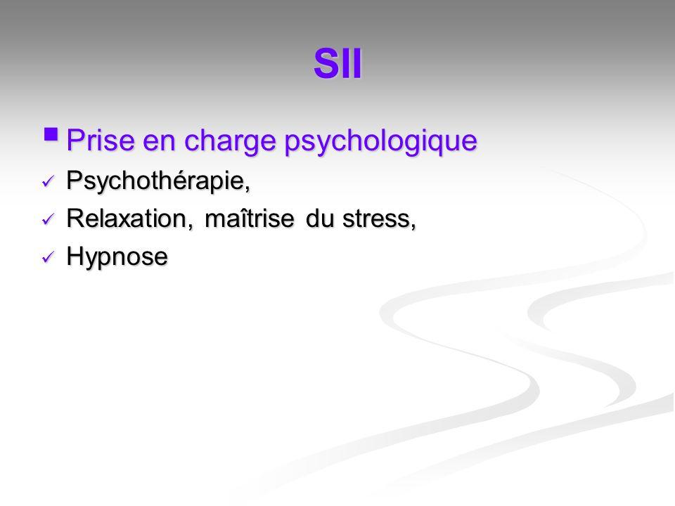 SII Prise en charge psychologique Psychothérapie,
