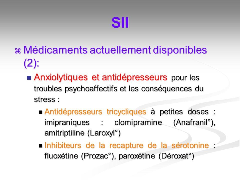 SII Médicaments actuellement disponibles (2):