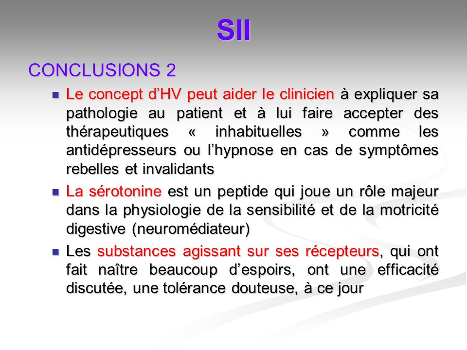 SII CONCLUSIONS 2.