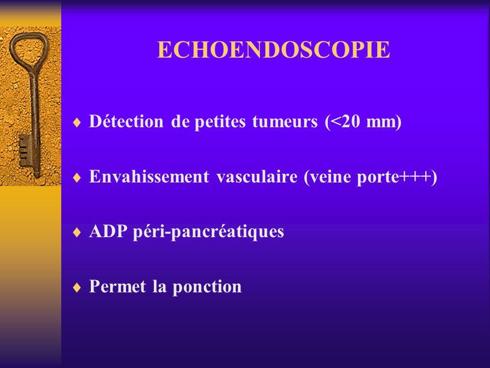 ECHOENDOSCOPIE Détection de petites tumeurs (<20 mm)