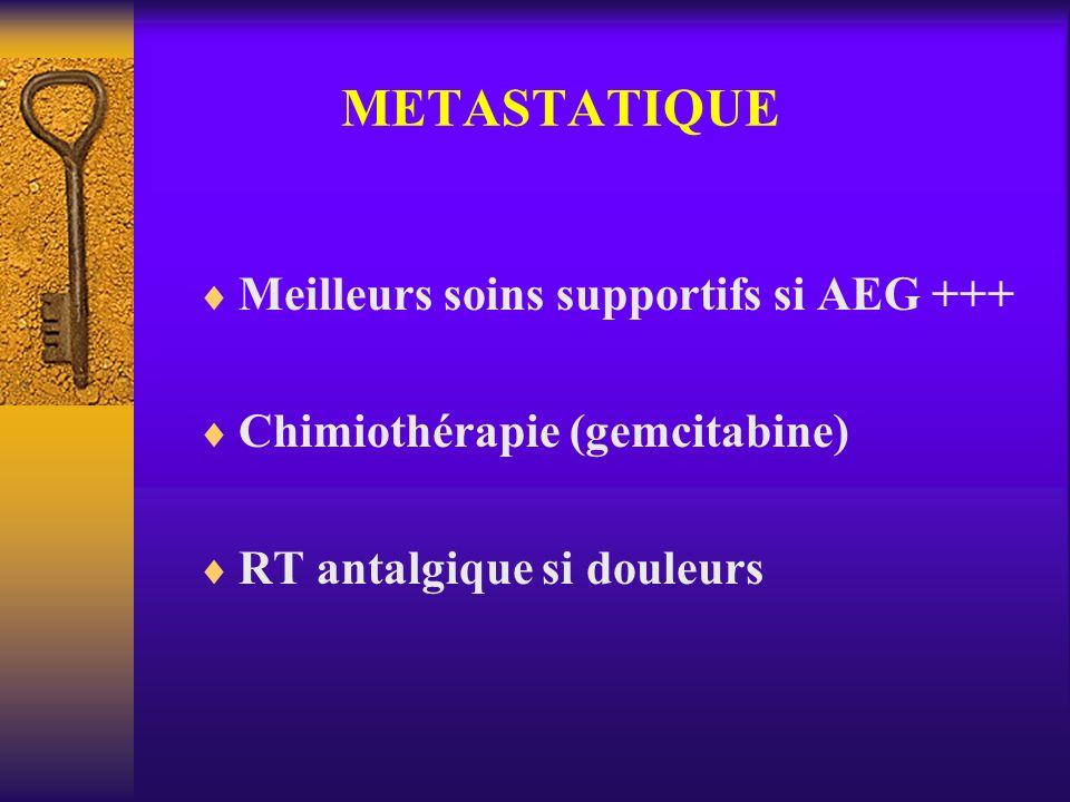 METASTATIQUE Meilleurs soins supportifs si AEG +++