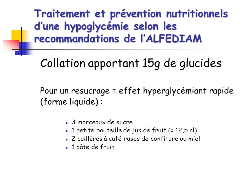 Collation apportant 15g de glucides