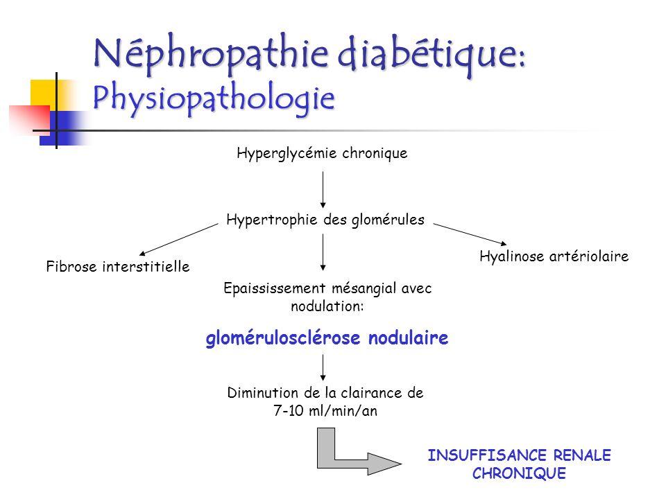 glomérulosclérose nodulaire INSUFFISANCE RENALE CHRONIQUE