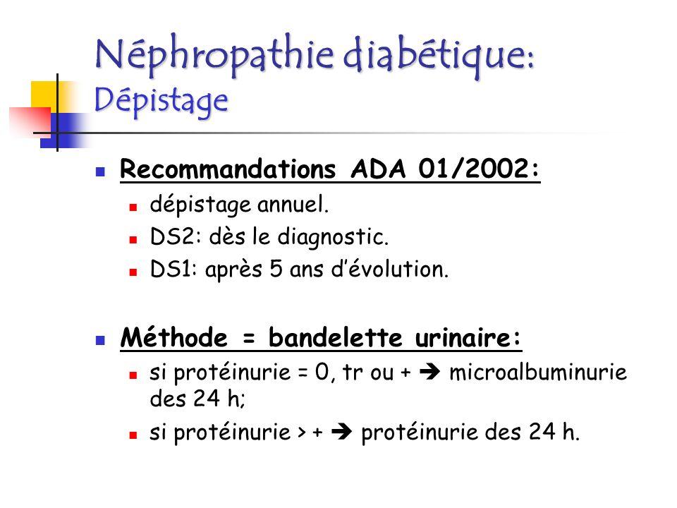 Néphropathie diabétique: Dépistage