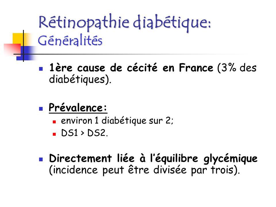 Rétinopathie diabétique: Généralités