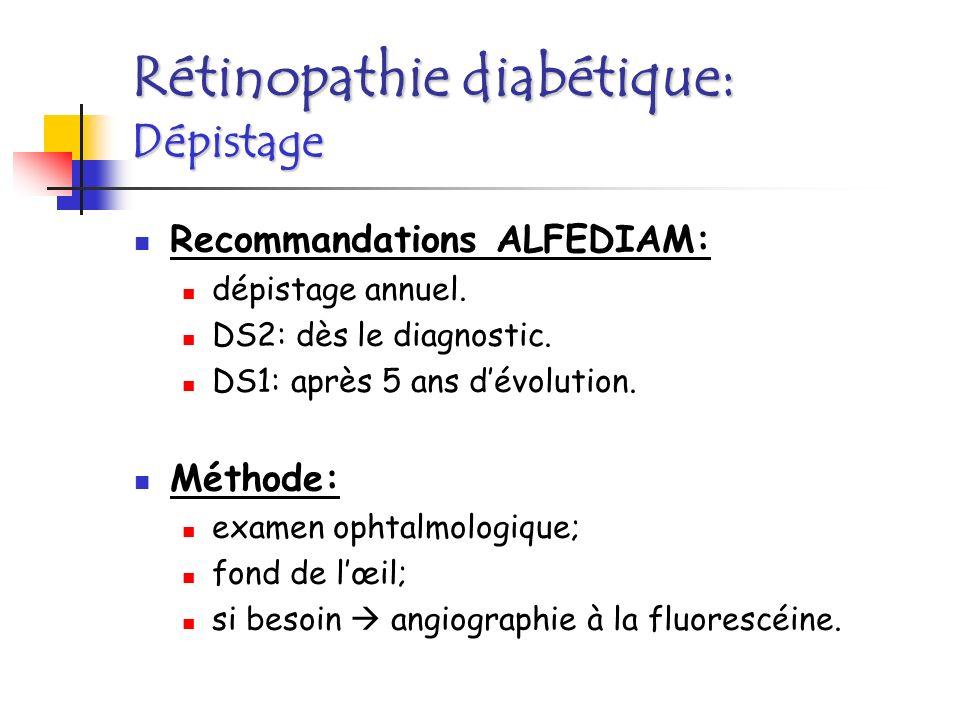 Rétinopathie diabétique: Dépistage