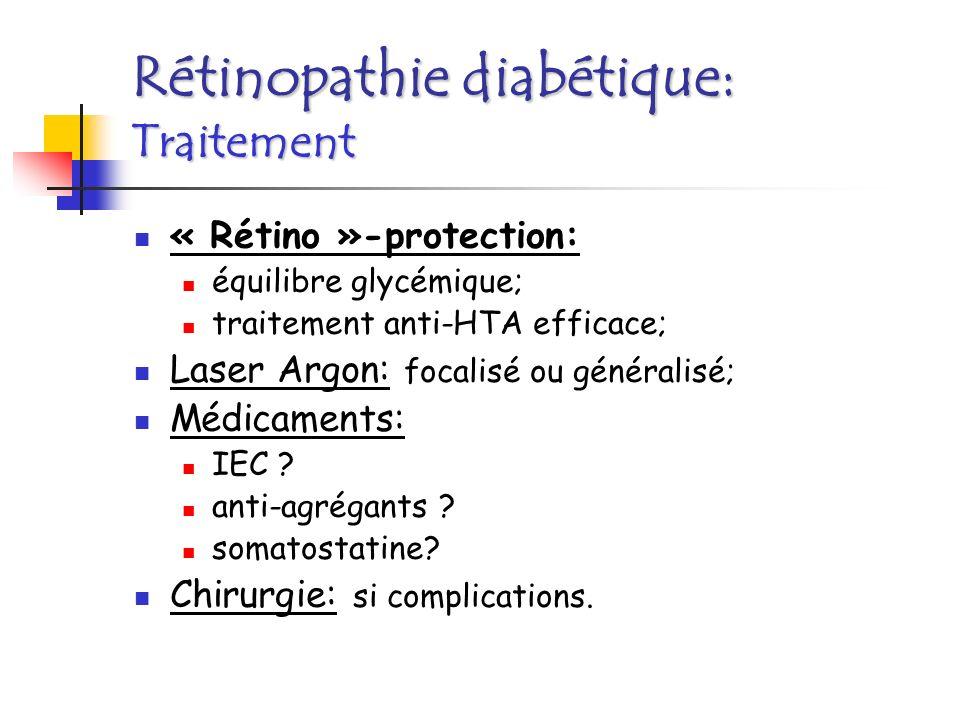 Rétinopathie diabétique: Traitement