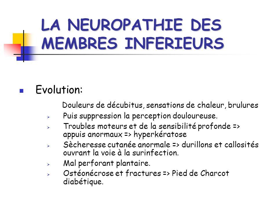 LA NEUROPATHIE DES MEMBRES INFERIEURS
