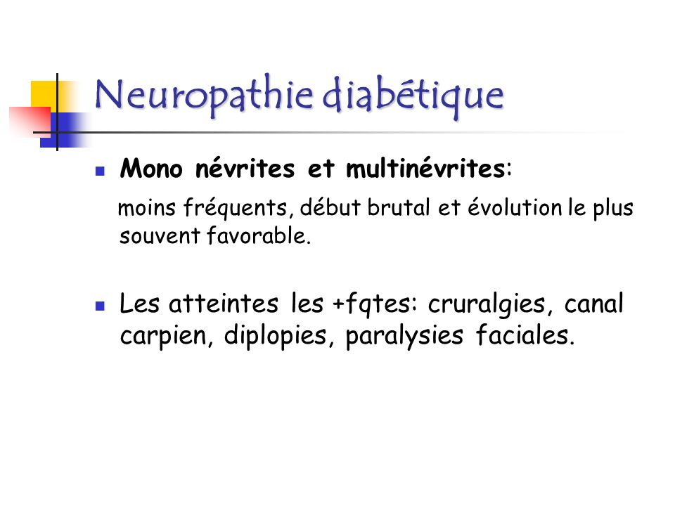 Neuropathie diabétique