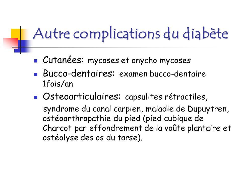 Autre complications du diabète