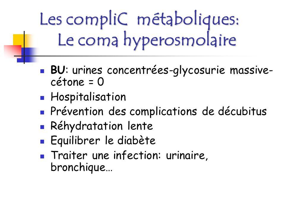 Les compliC métaboliques: Le coma hyperosmolaire