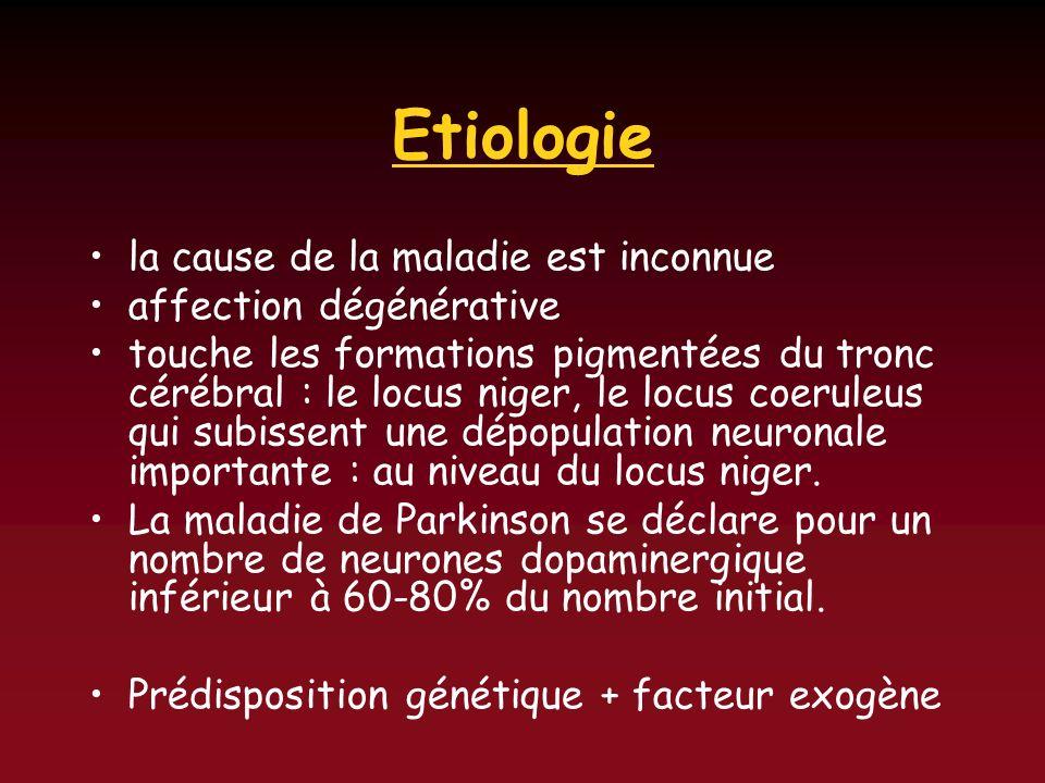 Etiologie la cause de la maladie est inconnue affection dégénérative