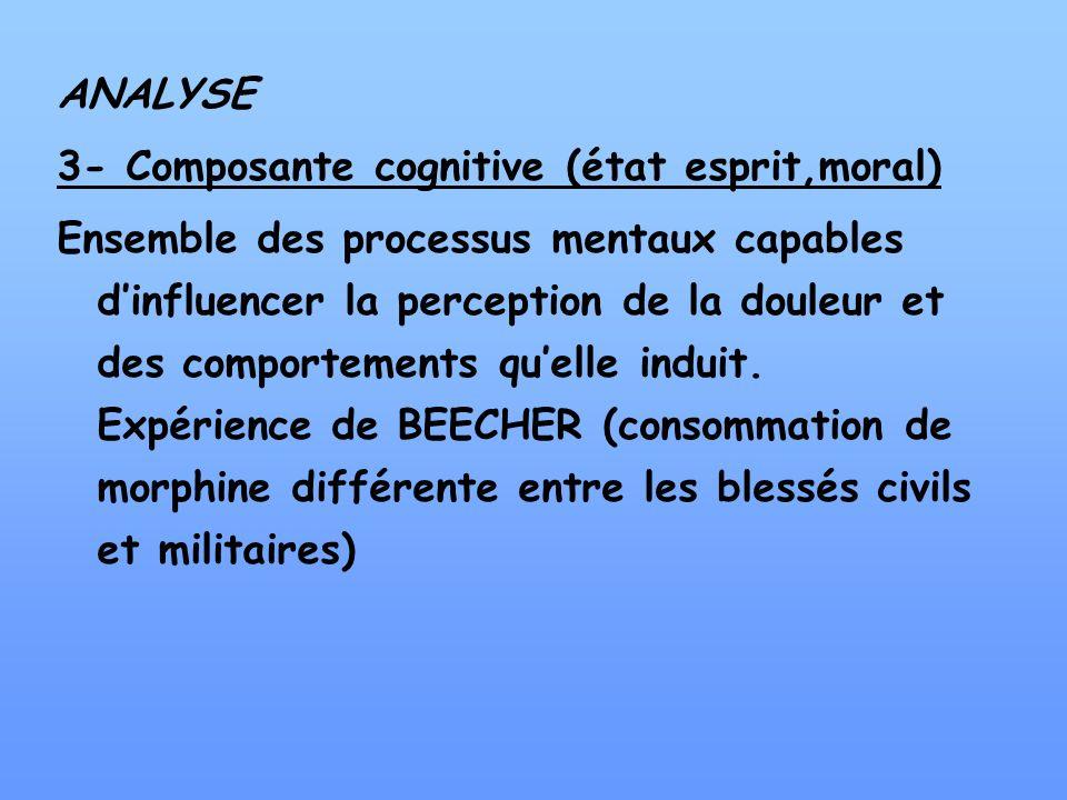 ANALYSE3- Composante cognitive (état esprit,moral)