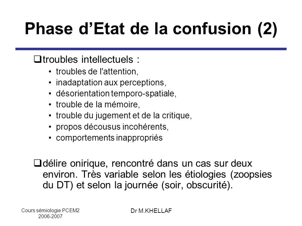 Phase d'Etat de la confusion (2)