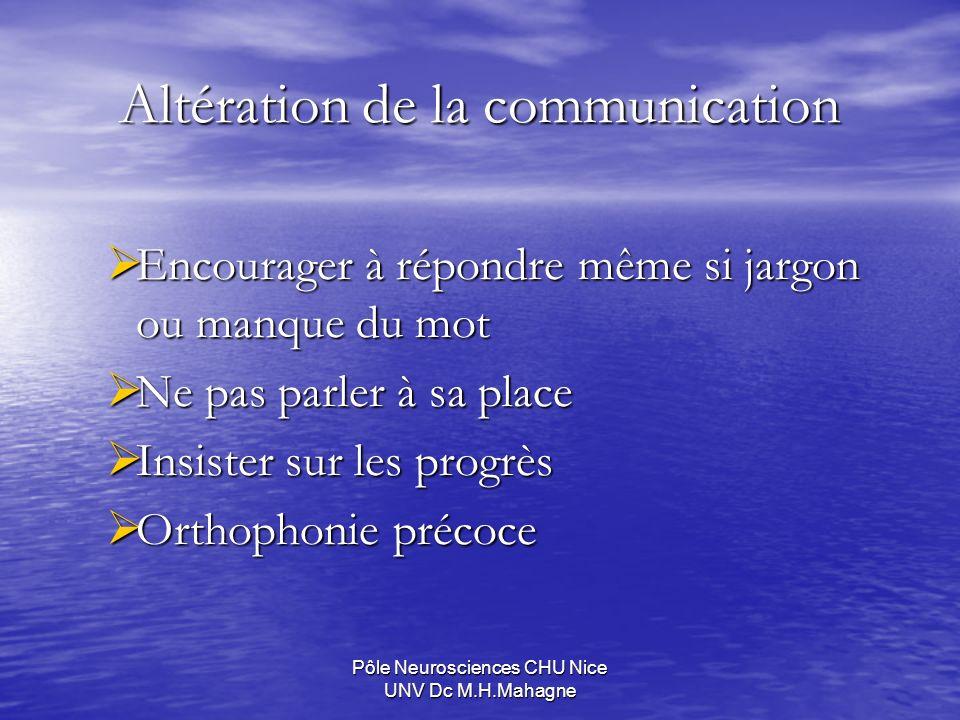 Altération de la communication