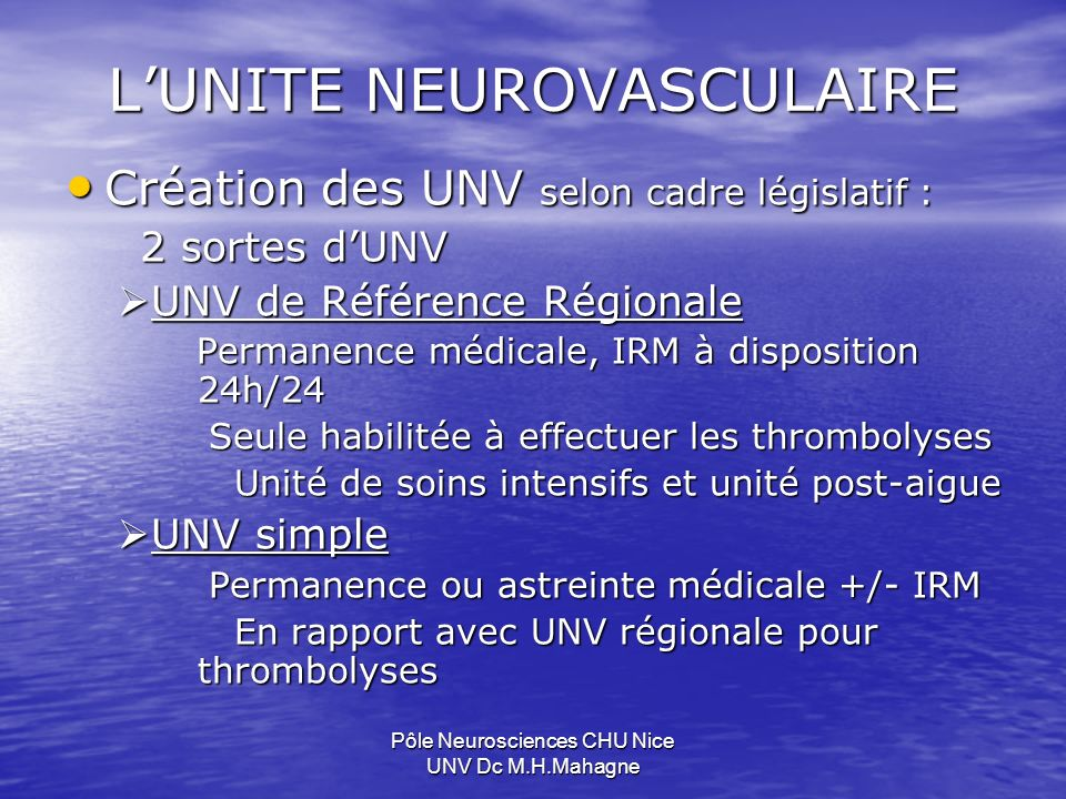 L'UNITE NEUROVASCULAIRE