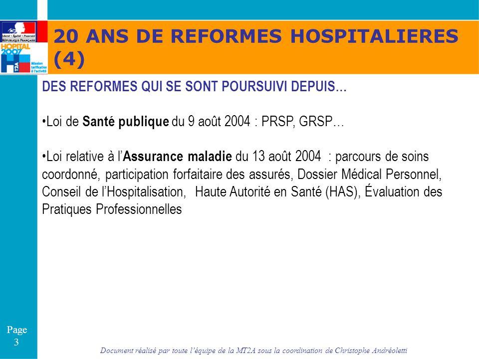20 ANS DE REFORMES HOSPITALIERES (4)