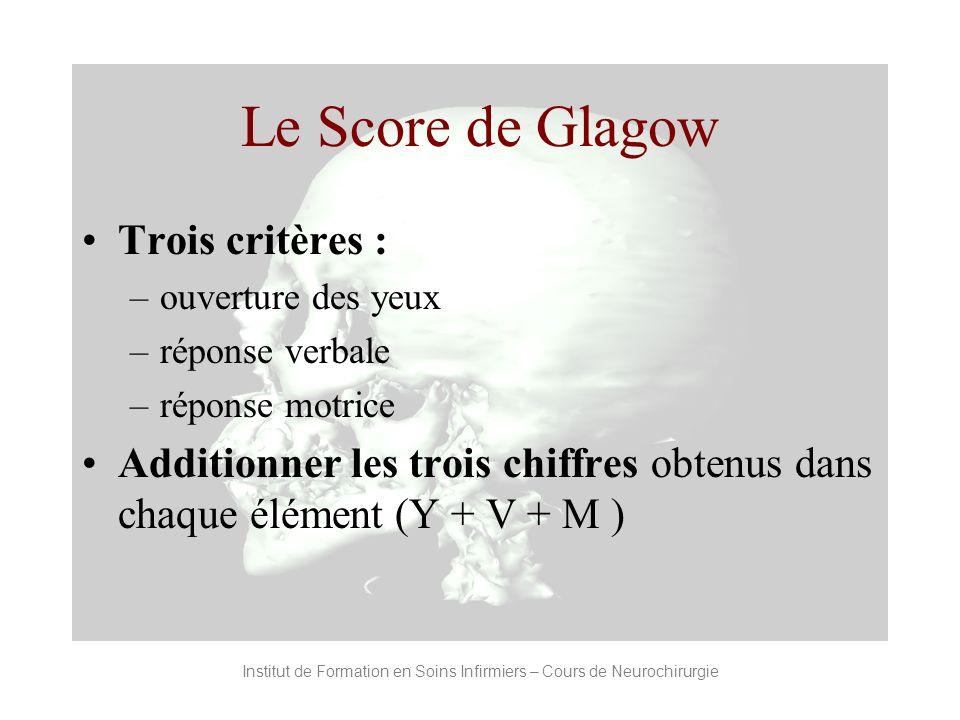 Institut de Formation en Soins Infirmiers – Cours de Neurochirurgie