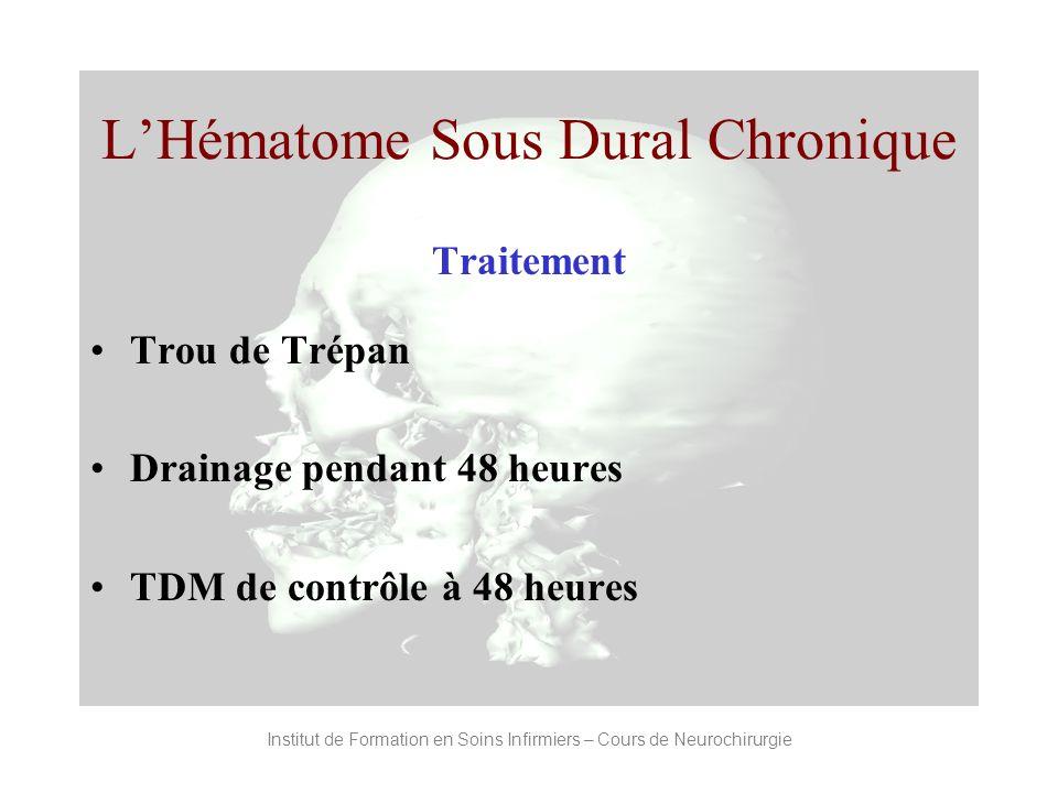 L'Hématome Sous Dural Chronique