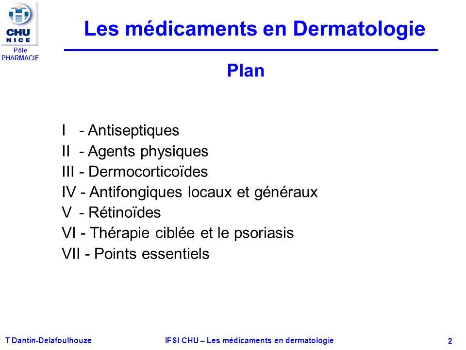 IFSI CHU – Les médicaments en dermatologie