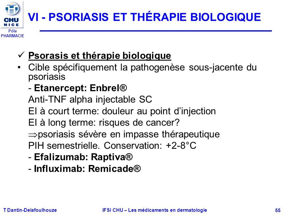 VI - PSORIASIS ET THÉRAPIE BIOLOGIQUE