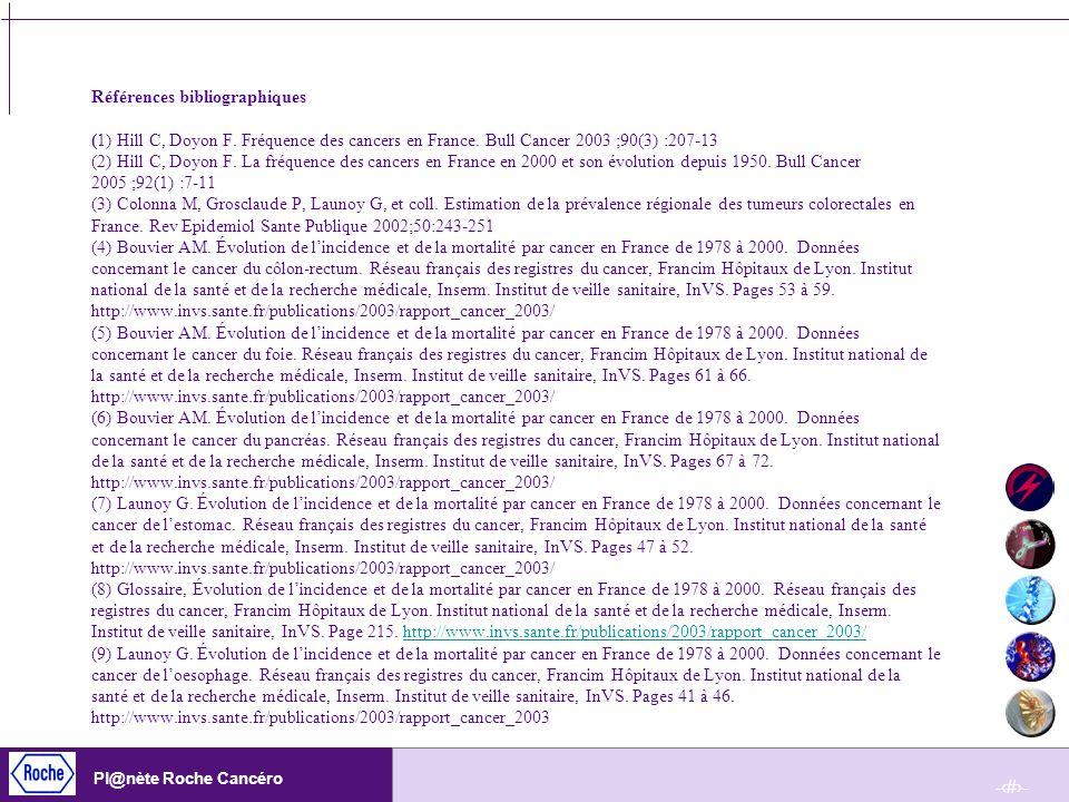 Références bibliographiques (1) Hill C, Doyon F