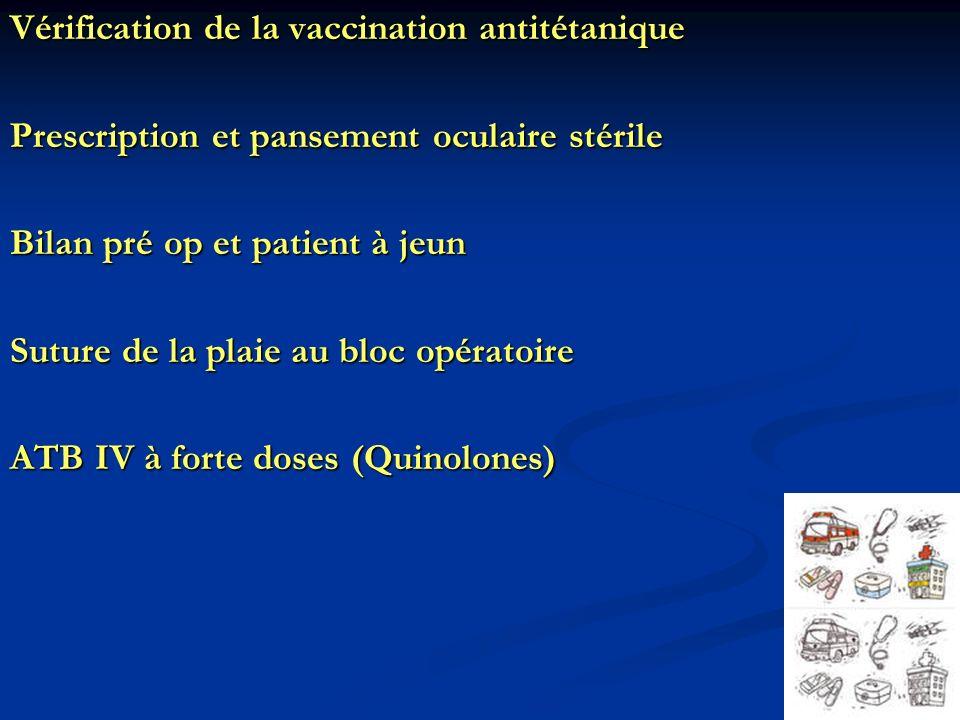 Vérification de la vaccination antitétanique