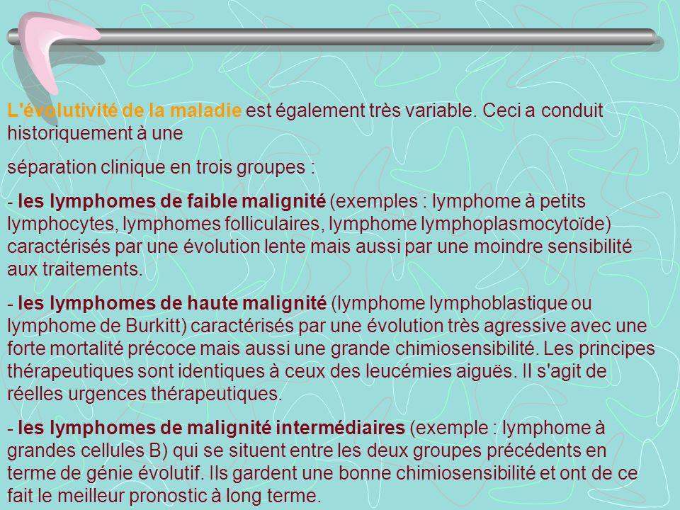 L évolutivité de la maladie est également très variable