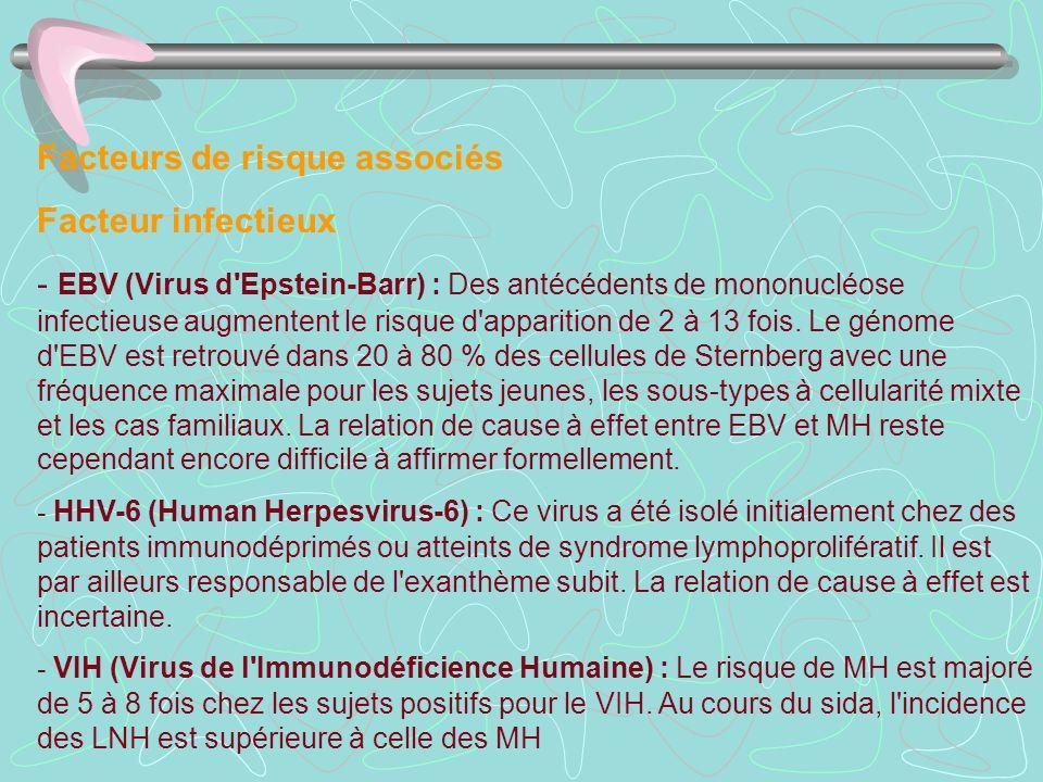 Facteurs de risque associés Facteur infectieux