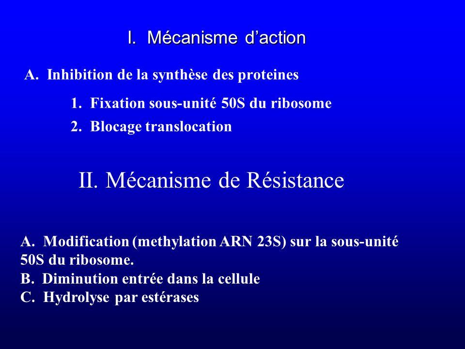 II. Mécanisme de Résistance