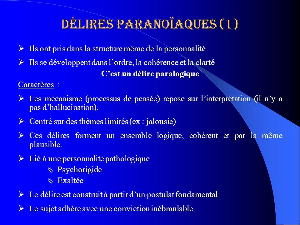 Délires paranoïaques (1)
