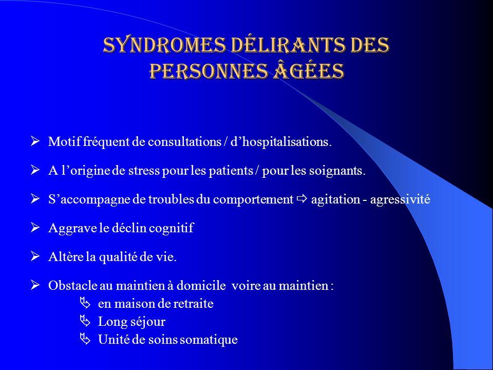 Syndromes délirants des personnes âgées