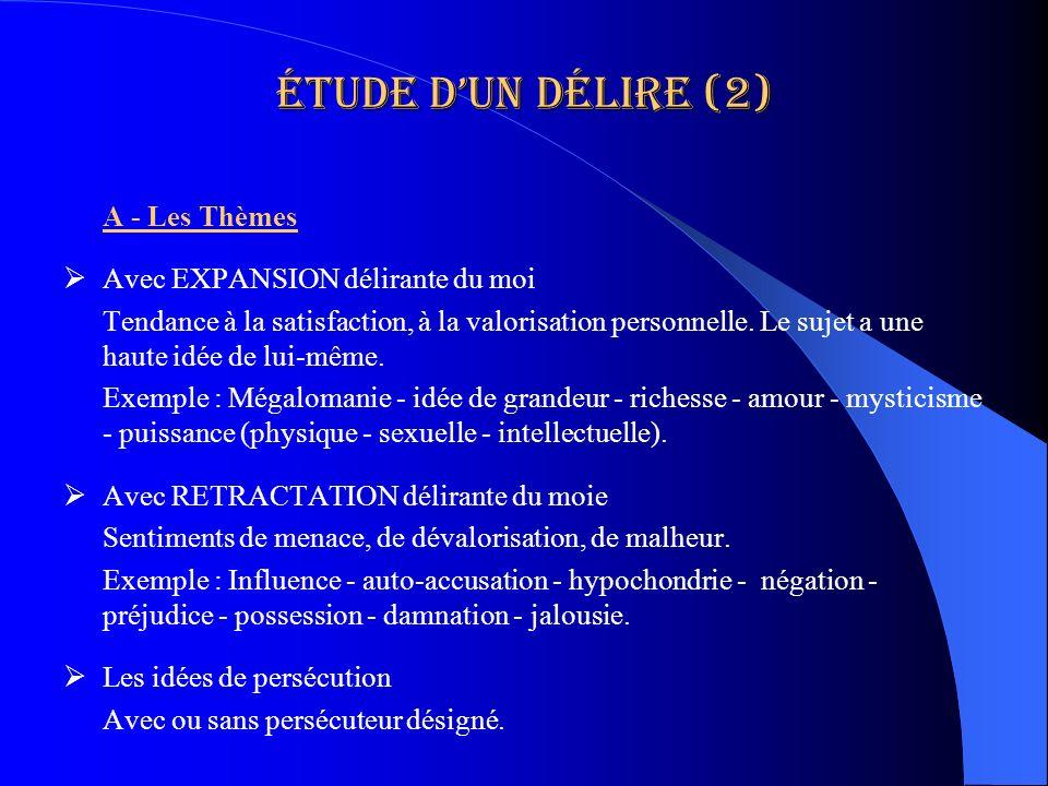 Étude d'un délire (2) A - Les Thèmes Avec EXPANSION délirante du moi
