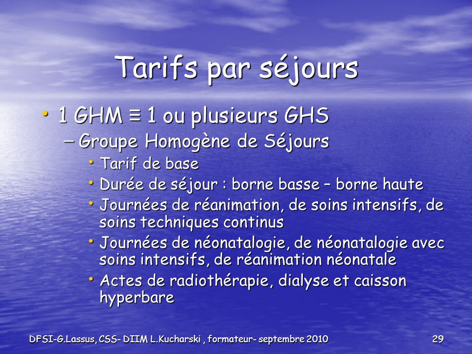 DFSI-G.Lassus, CSS- DIIM L.Kucharski , formateur- septembre 2010