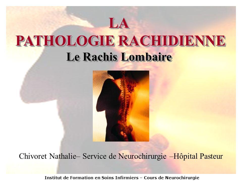 PATHOLOGIE RACHIDIENNE