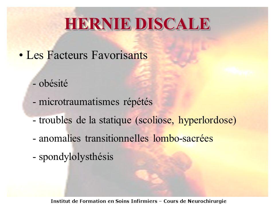 HERNIE DISCALE Les Facteurs Favorisants obésité