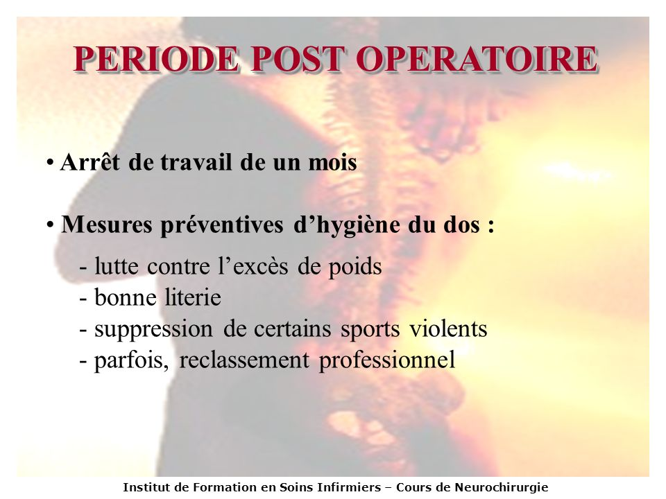PERIODE POST OPERATOIRE
