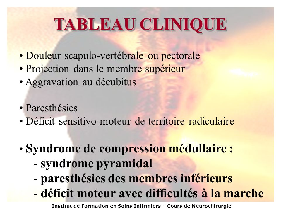 TABLEAU CLINIQUE syndrome pyramidal