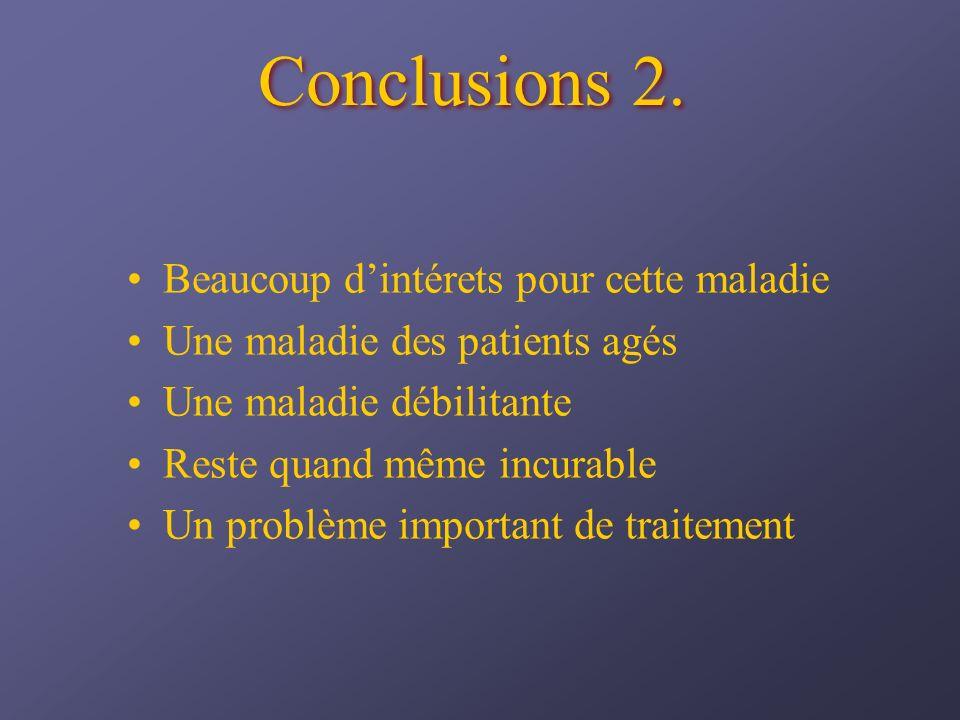 Conclusions 2. Beaucoup d'intérets pour cette maladie