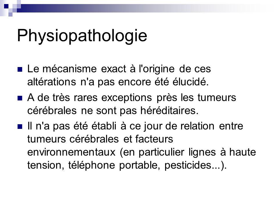 Physiopathologie Le mécanisme exact à l origine de ces altérations n a pas encore été élucidé.