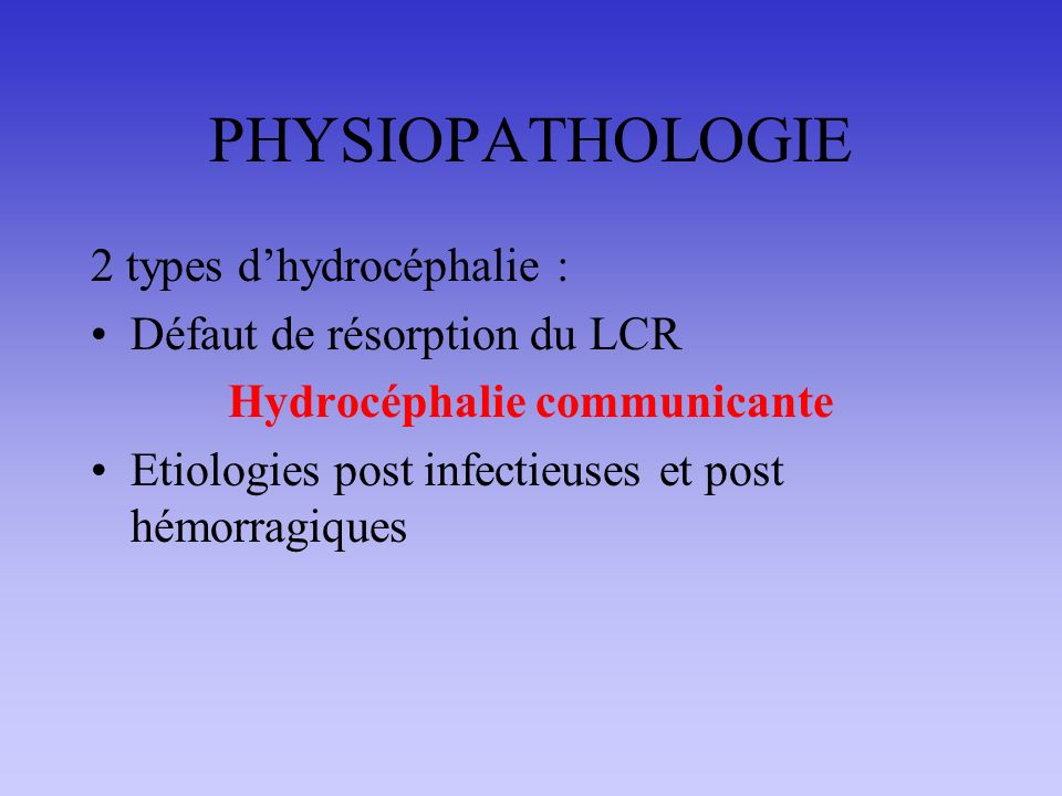 Hydrocéphalie communicante