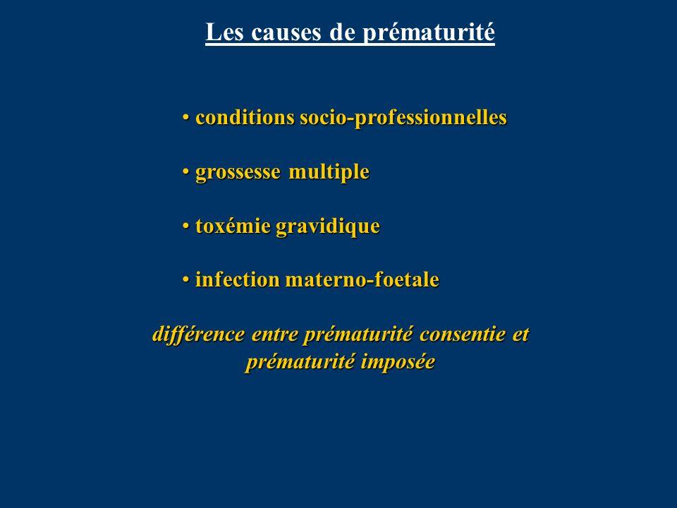 Les causes de prématurité