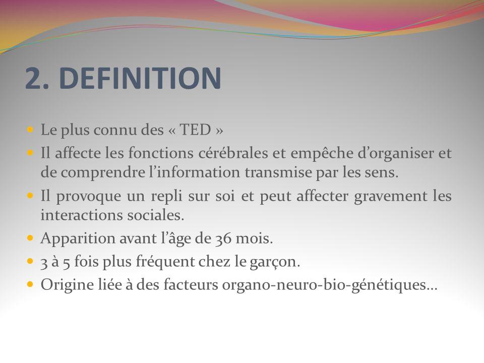 2. DEFINITION Le plus connu des « TED »