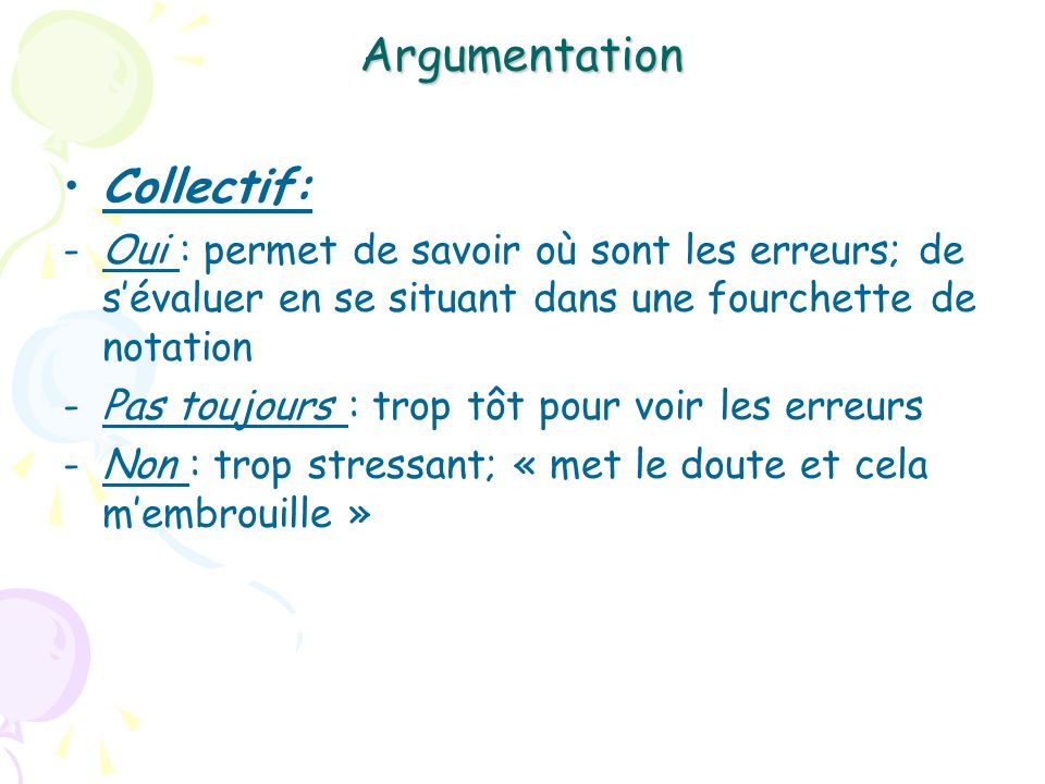 Argumentation Collectif: