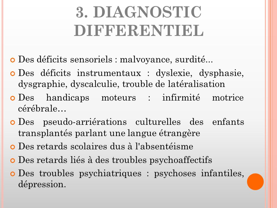 3. DIAGNOSTIC DIFFERENTIEL